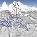 Mapa Cortina d´Ampezzo - Tofana