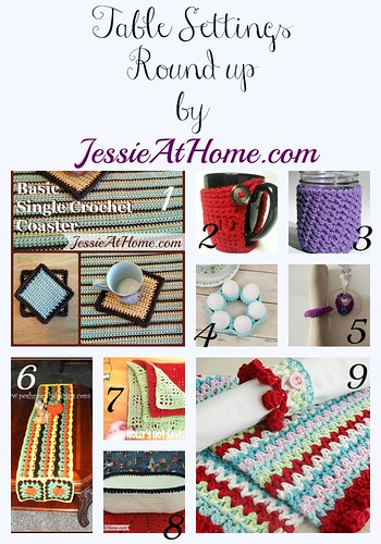 Table Setting Crochet Pattern Round Up by Jessie At Home