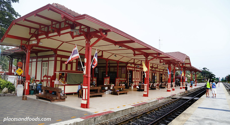 hua hin train station wide shot