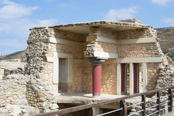 Restored ruins at Knossos