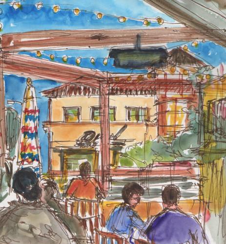 Patio at The Table, Willow Glen, San Jose, CA #inktober