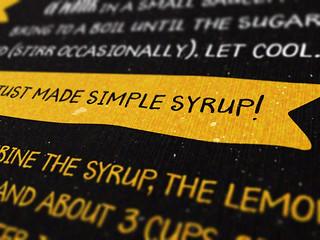 A type-based lemonade recipe card - Detail