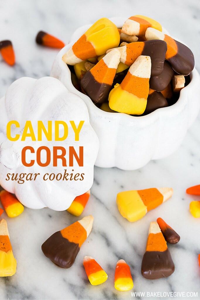 Candy Corn Sugar Cookies Recipe - a deliciously addictive festive fall sweet!