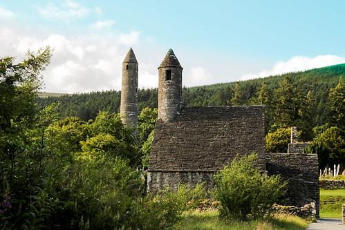 buildings Glendalough