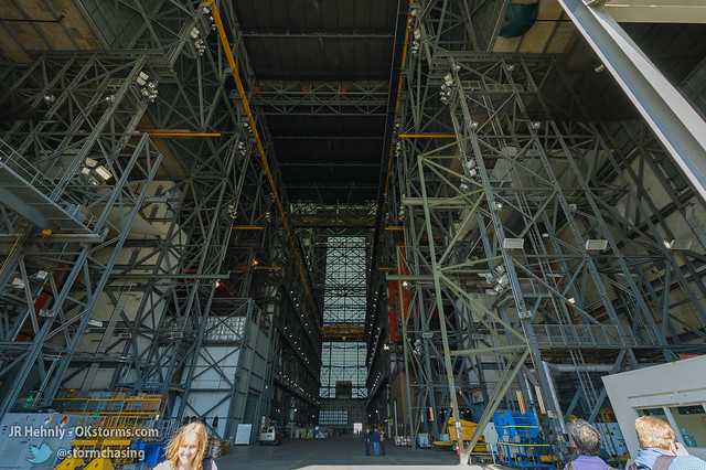 Thu, 11/01/2012 - 13:03 - Inside NASA's massive Vehicle Assembly Building (VAB), 526 feet (160.3 m) tall. This is where the Apollo Saturn V rockets were assembled, as well as the Space Shuttle. The upcoming Space Launch System (SLS) rockets will be assembled here. - November 01, 2012 1:03:22 PM - Titusville, Florida (28.5848,-80.6507)