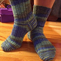 Ta da! #knit #socks #stripes #socksforstu