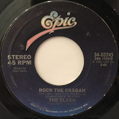THE CLASH:ROCK THE CASBAH(LABEL SIDE-A)