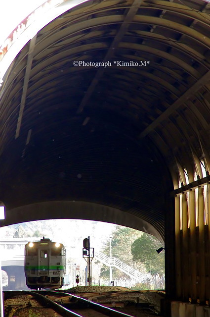 スノーシェッドのある風景☆ー滝ノ上駅