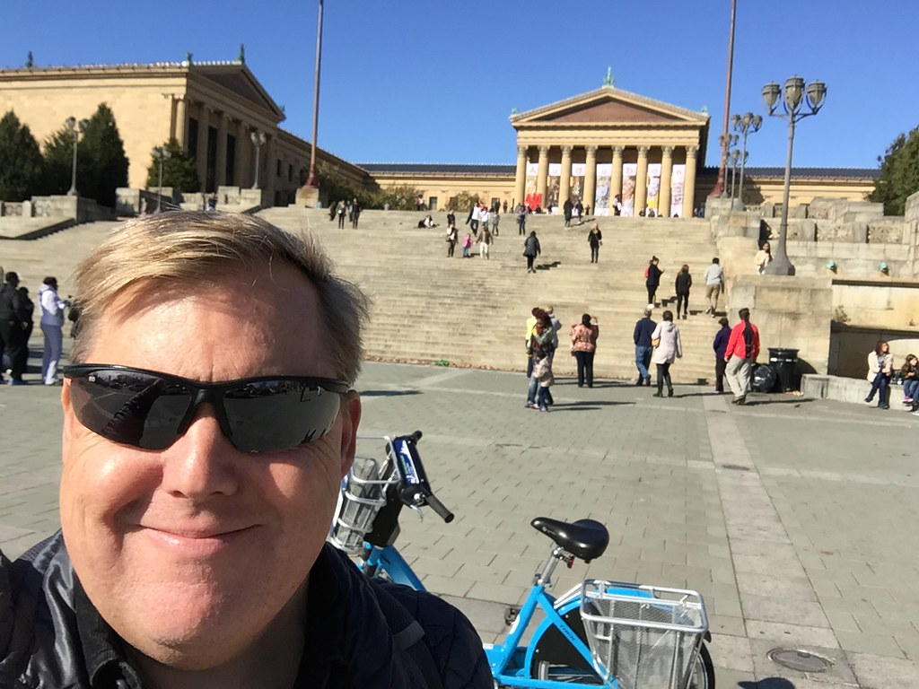 Me at the Rocky Steps