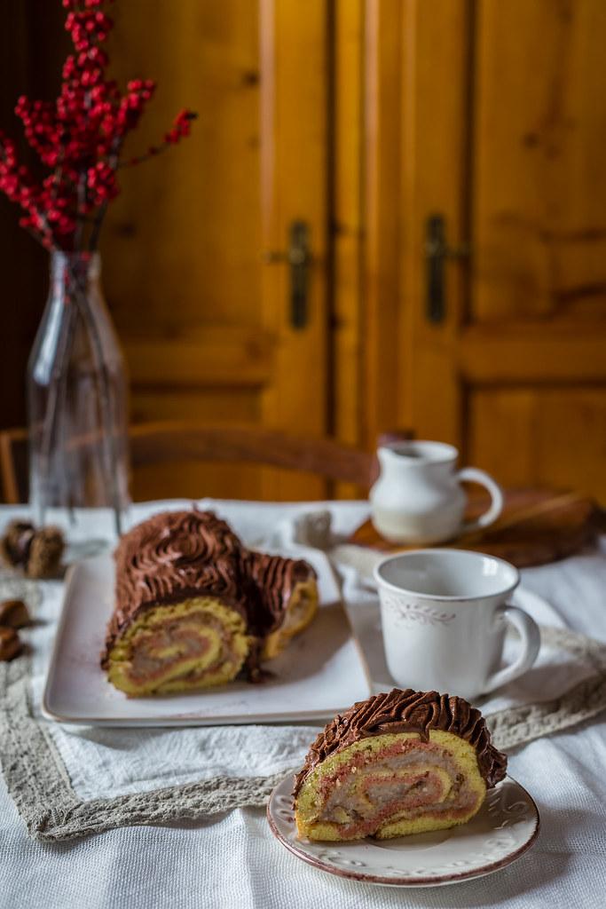 Tronchetto Di Natale Detto Fatto 2019.Tronchetto Di Natale Alla Crema Di Castagne