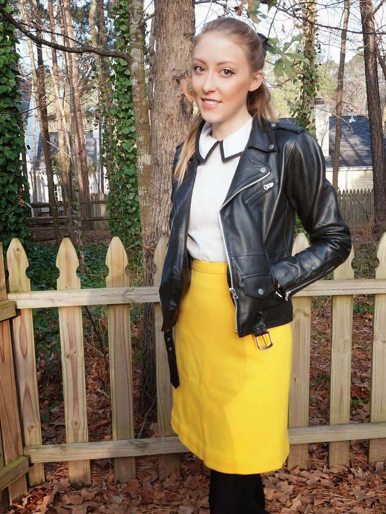 yellow skirt | allie J. | alliemjackson.com