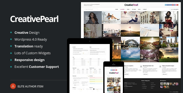 ThemeForest CreativePearl v1.3 - Photography Responsive WP Theme