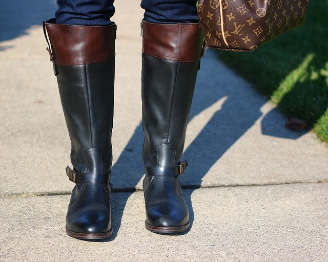 how i\'m wearing two-tone riding boots from wolverine + blogger ...