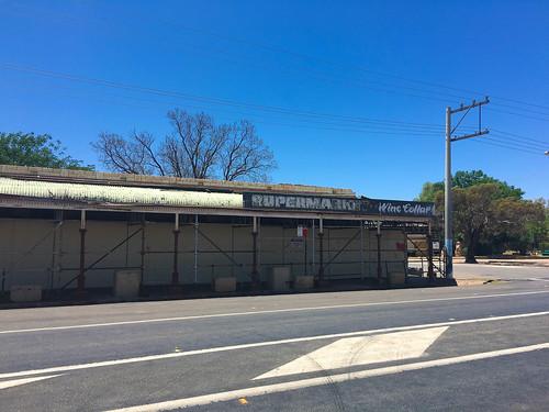 Der ehemalige Supermarkt. Hat sich nicht gehalten