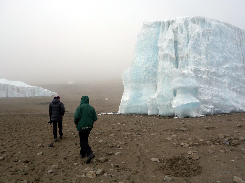 Approaching a tiny bit of glacier