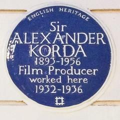 Photo of Alexander Korda blue plaque