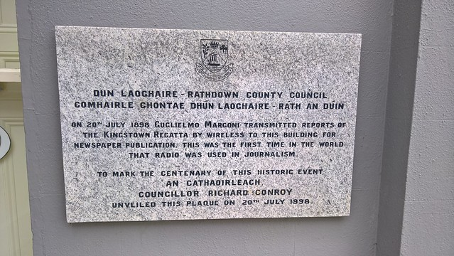 Photo of Guglielmo Marconi marble plaque