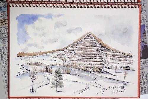 冬の五天山公園