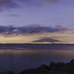 Vesuvio visto dal lungomare di Napoli
