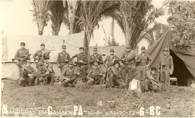 Soldados se preparam para manobra em Caiano, no Pará - Créditos: Reprodução