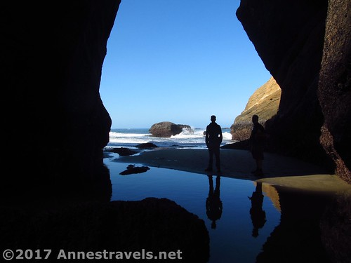 Reflections under a sea arch at the Punchbowl, Oregon