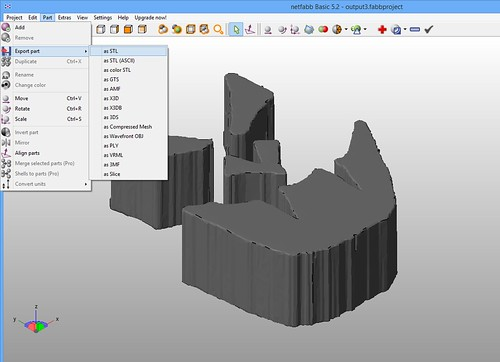 NetFabb Basic - Export Part - as STL