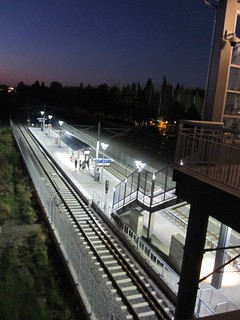 Bybee Station at dusk