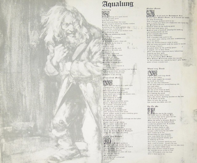 JETHRO TULL AQUALUNG FOC UK GREEN ISLAND CHRYSALIS STRUCTURED COVER