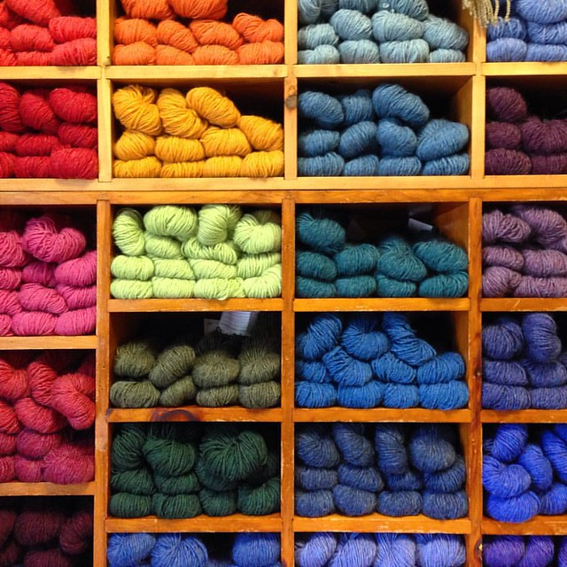 Stopping by the #greenmountainspinnery on the way home after a week in MA. #yarn