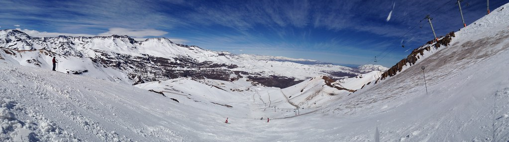 Panorama from the top of Andes Express