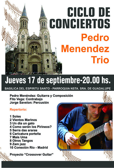 Pedro Menendez Crossover Guitar @ Ciclo de Conciertos Basilica Nra Sra de Guadalupe