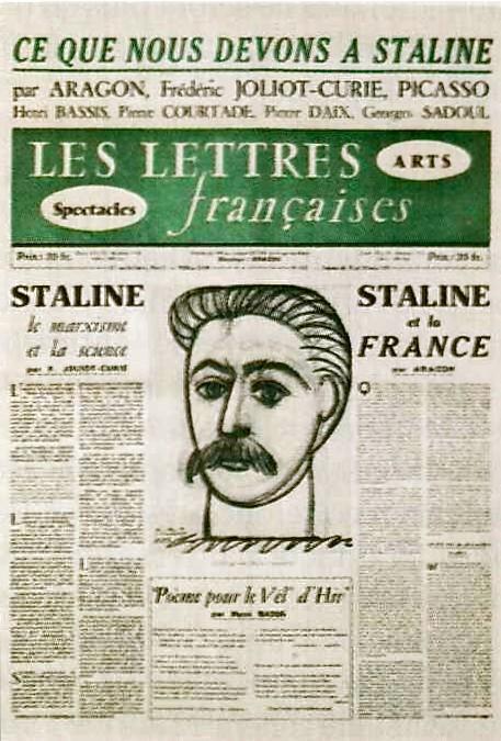 刊登毕加索版斯大林像的《法国文学》