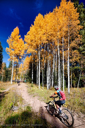 Cyclist | Crested Butte, CO | September, 2015 by Somnath Mukherjee Photoghaphy