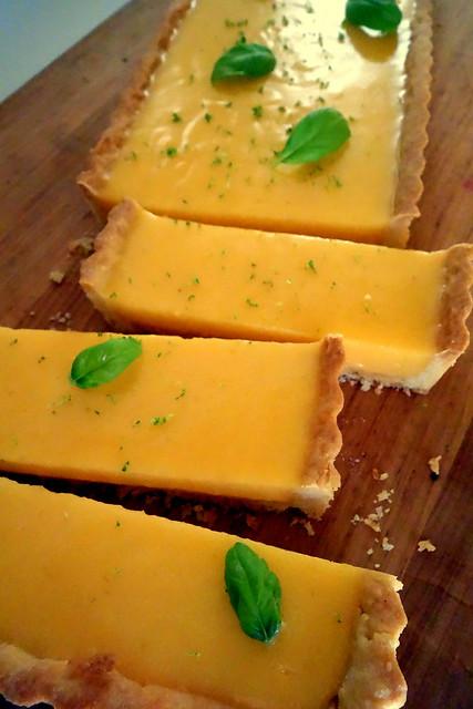 Lime & Basil tart
