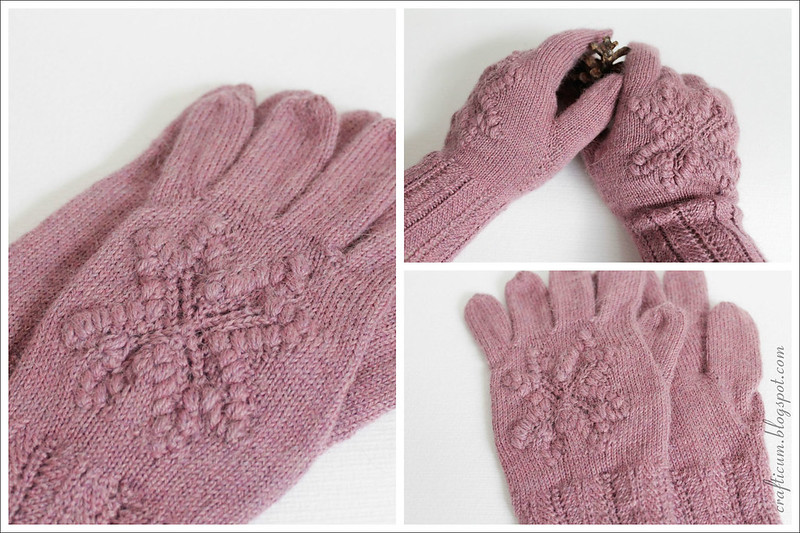 Pale pink star gloves