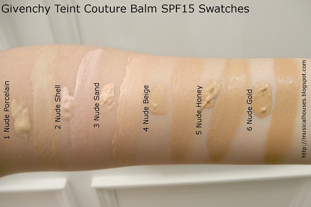 Givenchy Teint Couture Balm Swatches Blurring Foundation