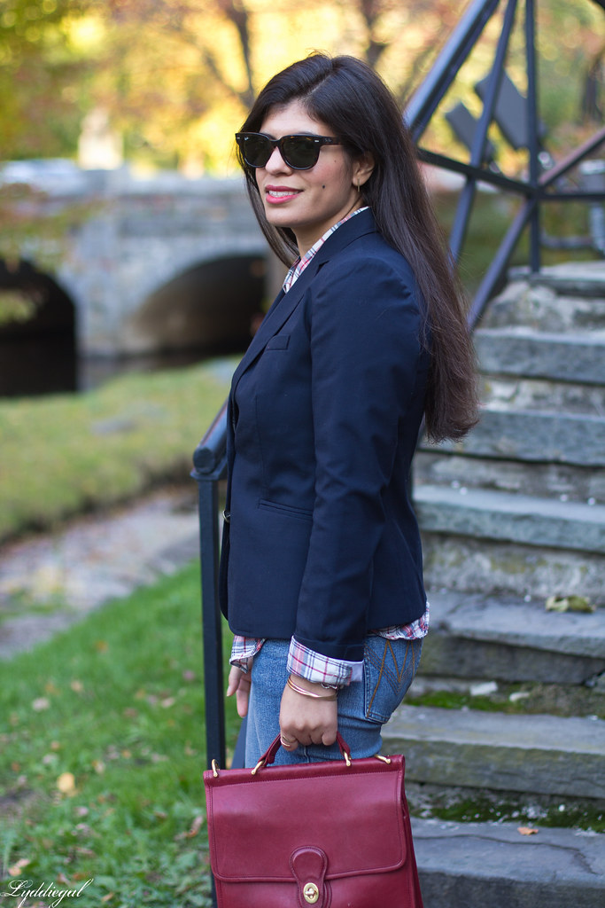 plaid shirt, navy blazer, red willis bag-14.jpg