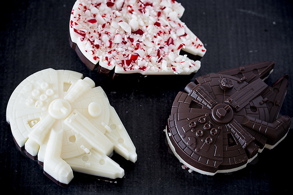 Celebrate the release of Star Wars: The Force Awakens with delicious Millennium Falcon Peppermint Bark
