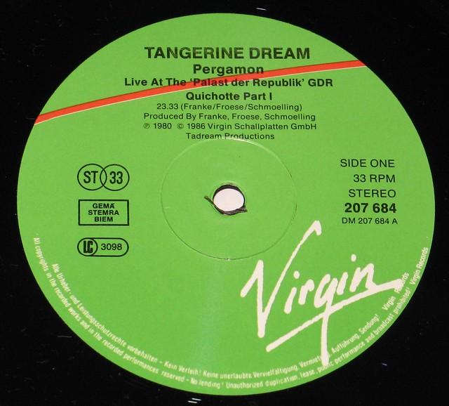 Tangerine Dream Pergamon Live