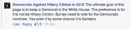 Dems against Hillary endorse Hillary