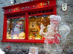 Ice sculpture in Quebec City