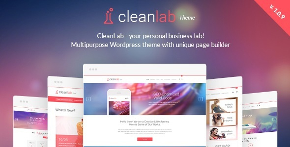 CleanLab v1.0.9 – Creative Multi-Purpose WordPress Theme with Page builder