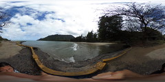 From the Mauka end of the Kahana Bay Boat Launch - a 360° Equirectangular VR