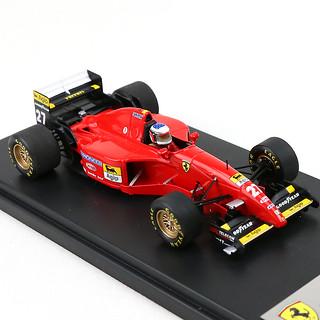 [鈴鹿サーキット限定] ジャン・アレジ直筆サイン入り 1/43 フェラーリ 412T2 1995年カナダGP優勝モデルカー(レジンモデル)