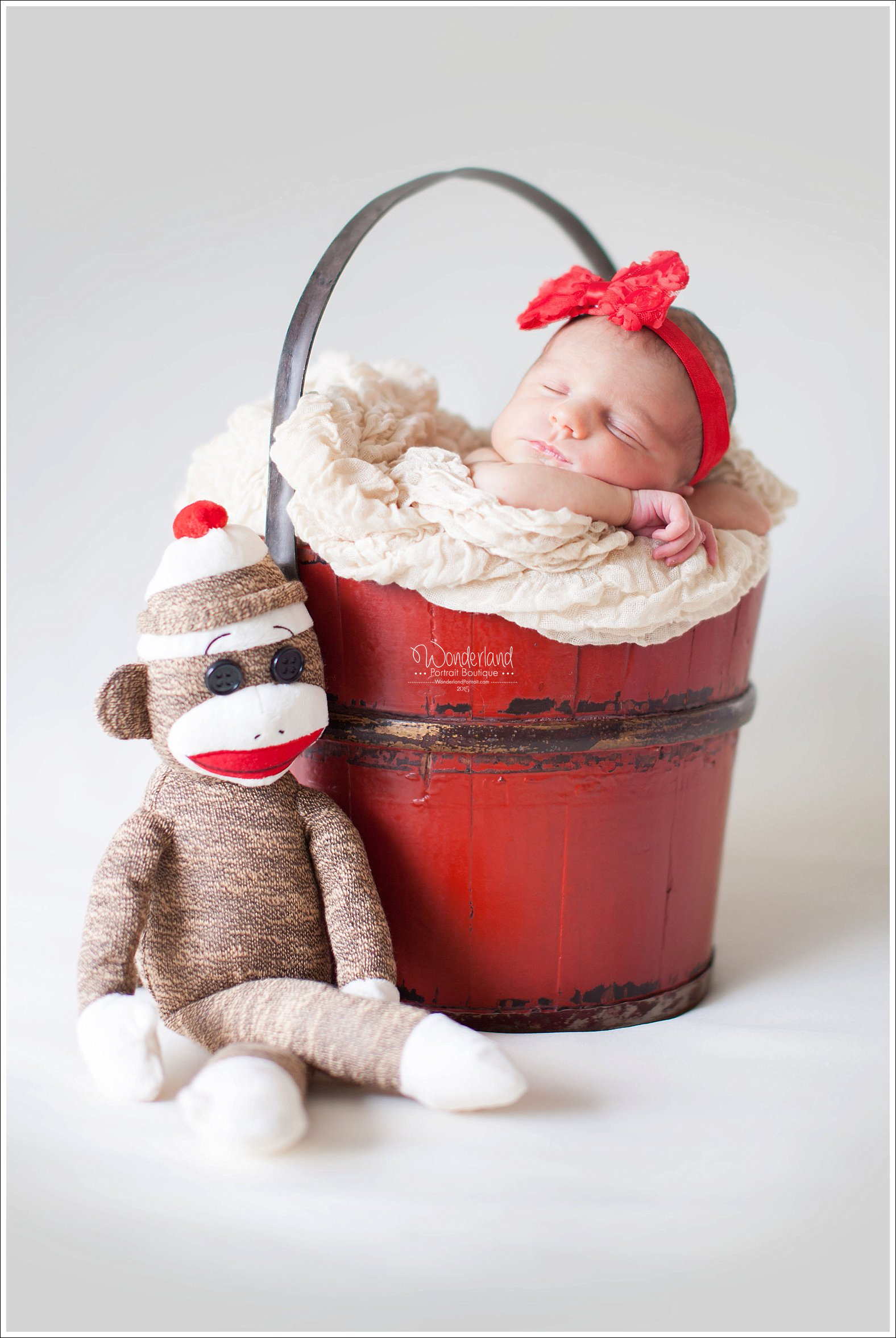 Richboro PA Sock Monkey Newborn Pose Picture Ideas | WonderlandPortrait.com