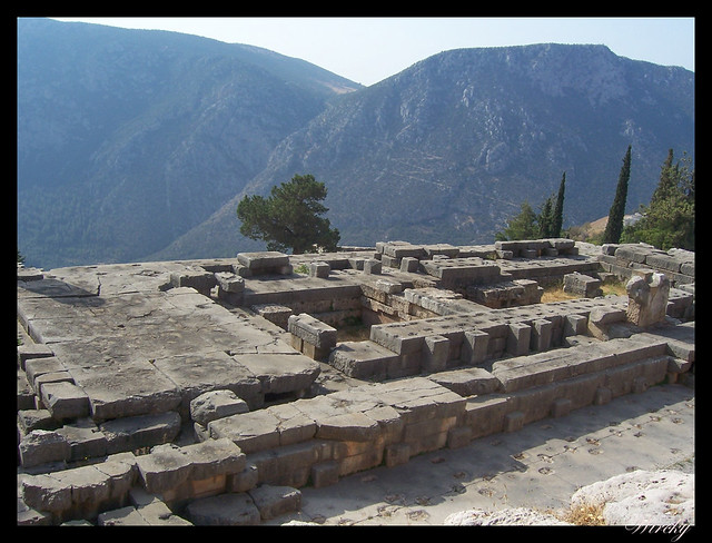 Grecia Delfos Osios Lukas Kalambaka - Templo de Apolo