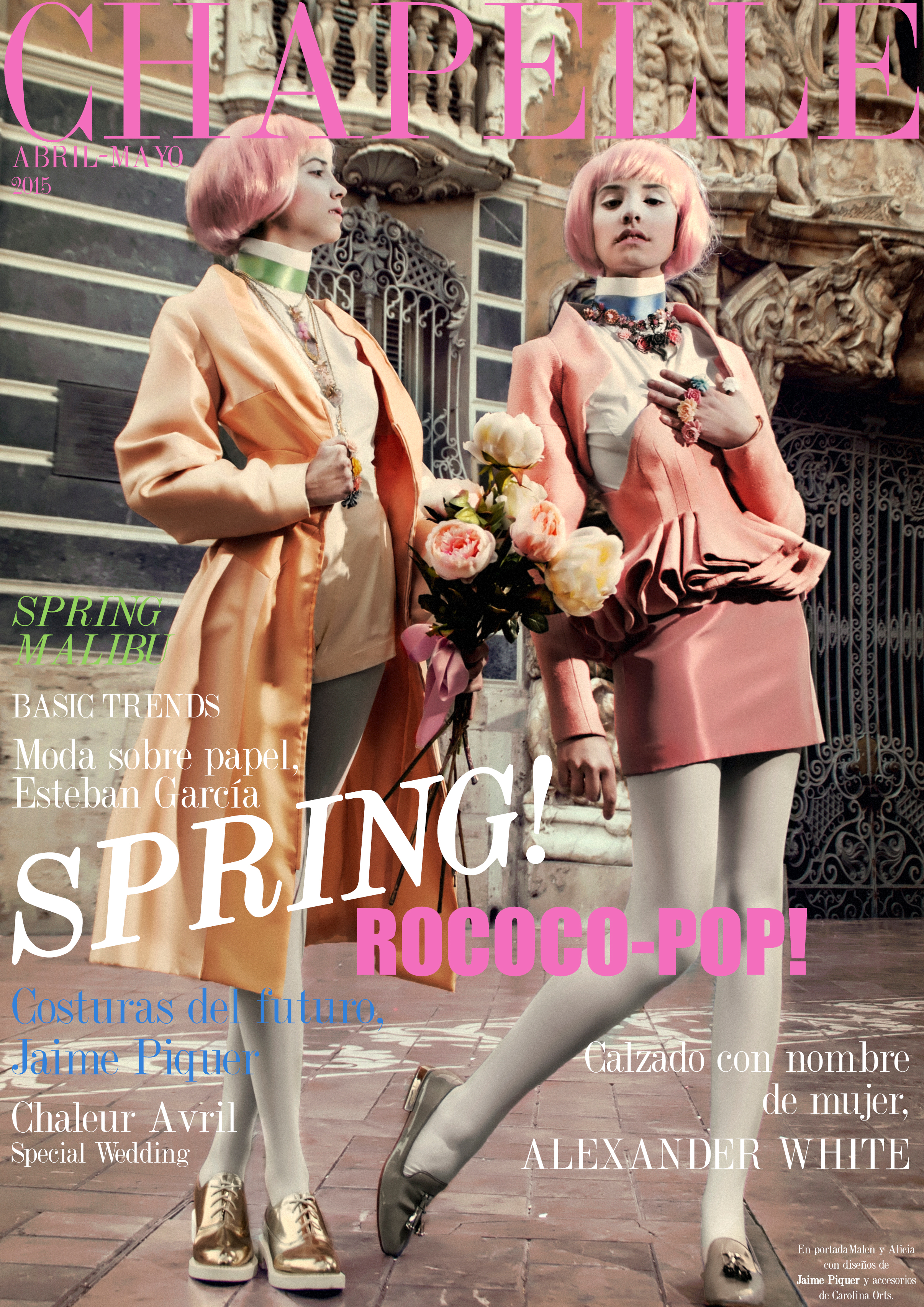 chapelle magazine fashion issue portadas, chapelle logo valencia revista moda estilo diseño, magazine rococo-pop cover front independent emerging bloggers designers spain