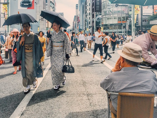 Japanese culture in Ginza