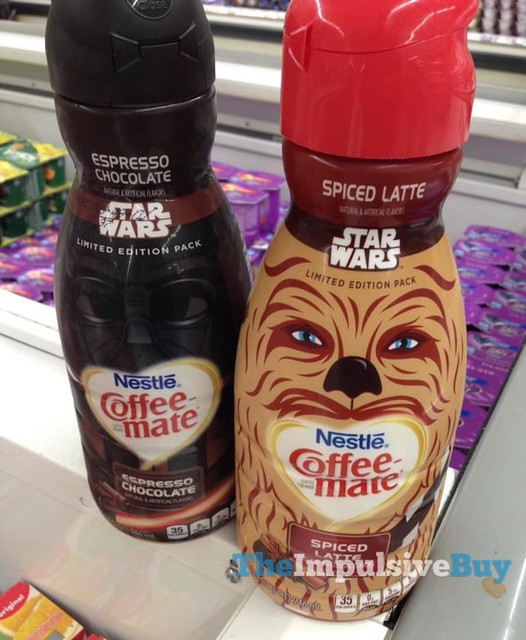 Nestle Coffee-Mate Star Wars Limited Edition Pack Darth Vader Espresso Chocolate and Chewbacca Spiced Latte