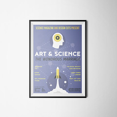 Create an illustrated art & science conference poster